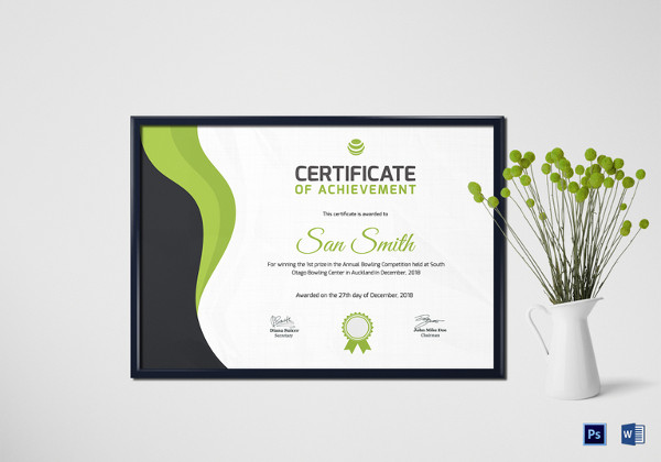 27 award certificate examples samples simple bowling award certificate template yadclub Choice Image
