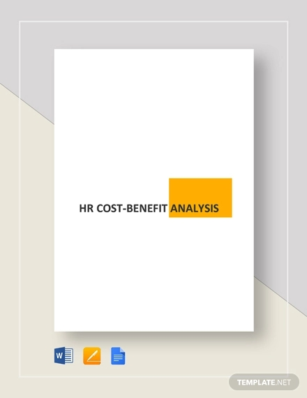 simple hr cost benefit analysis example