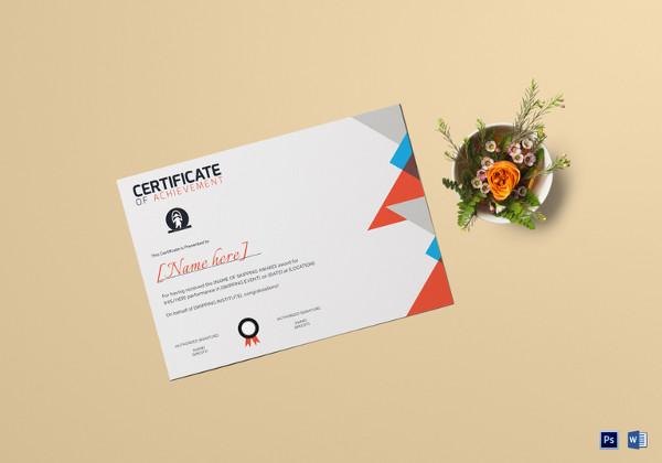 skipping award achievement certificate