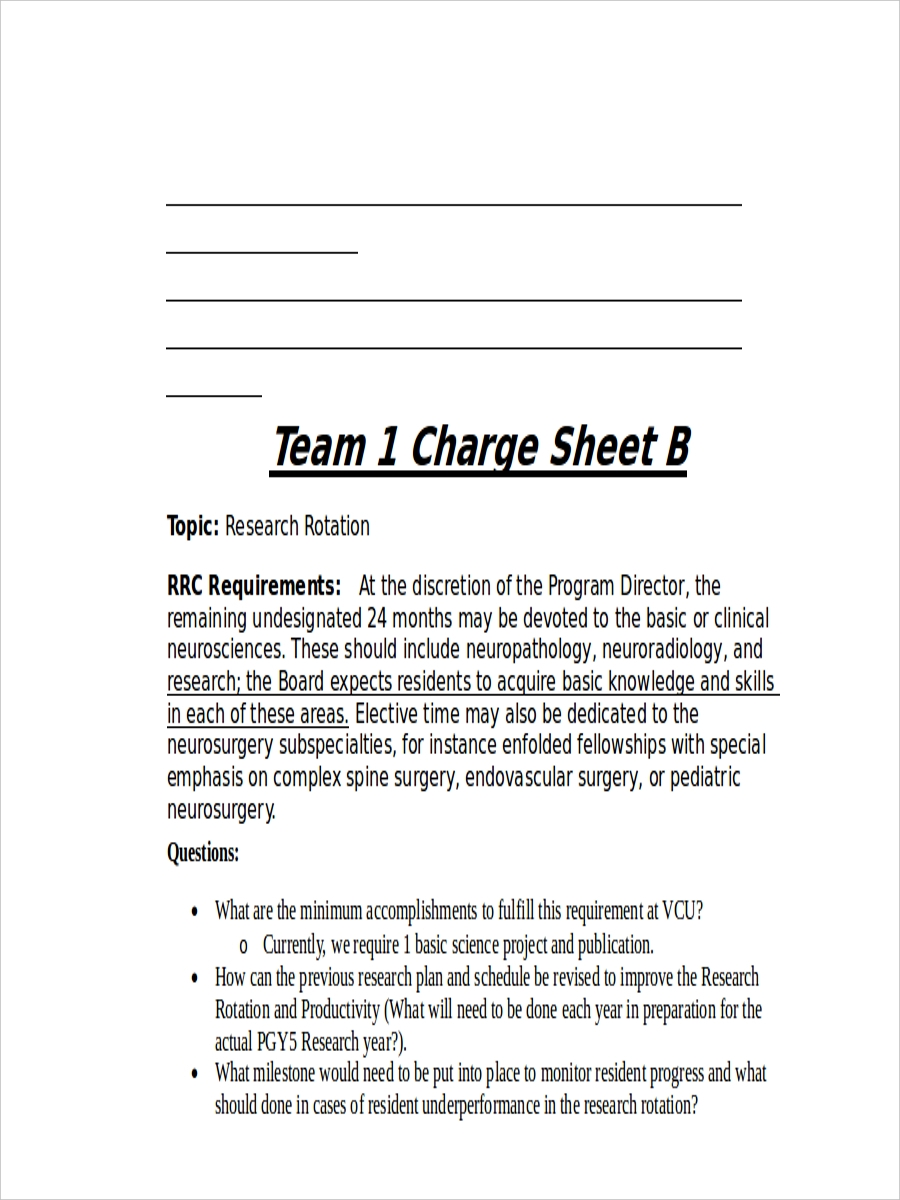 team charge sheet example