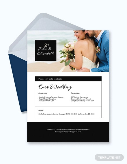 wedding invitation email