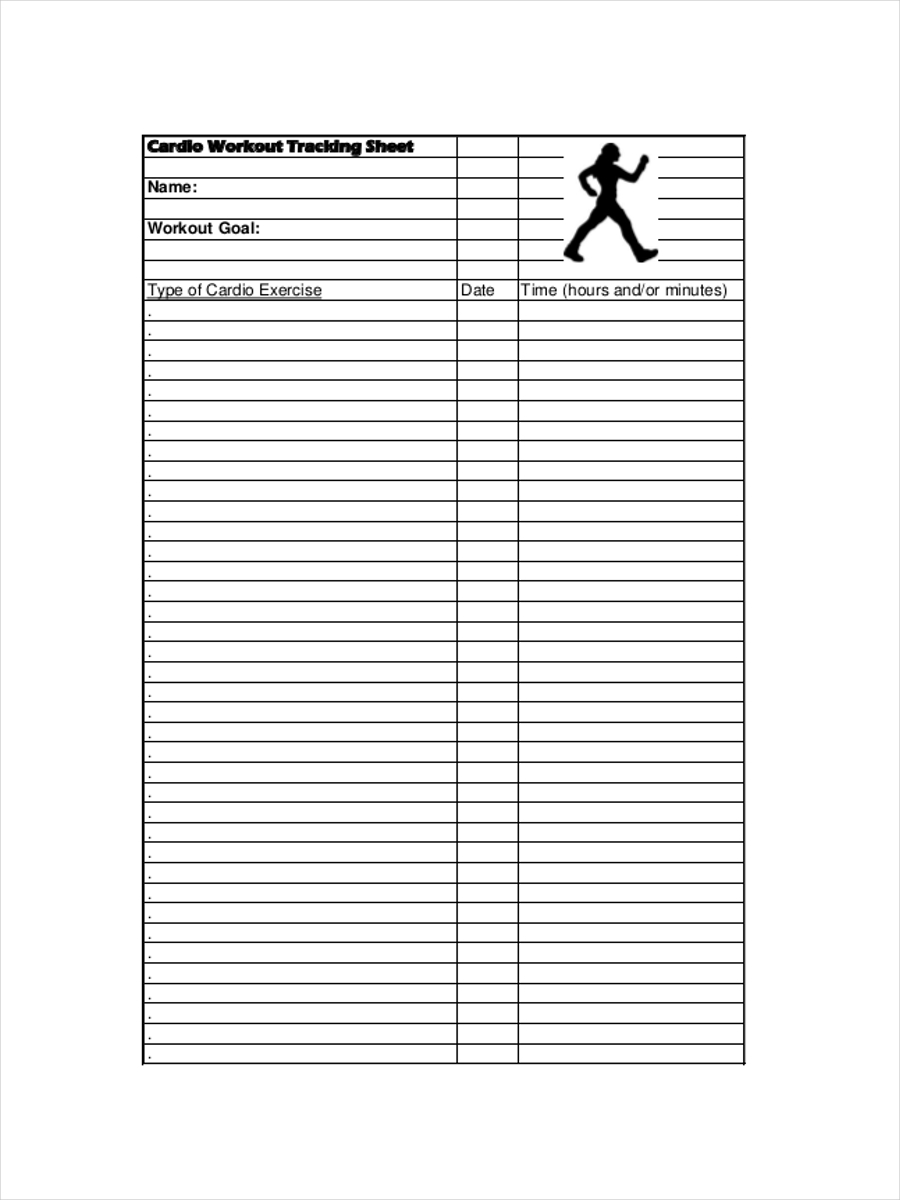 workout tracking sheet example