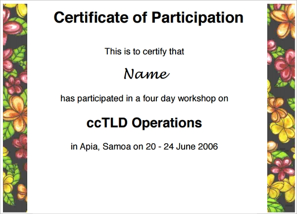 workshop participation certificate1