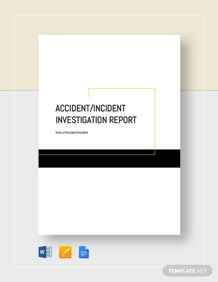 accident invsetgation report