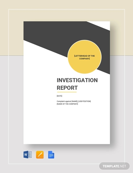 FREE 15+ Investigation Report Samples & Examples in PDF ...