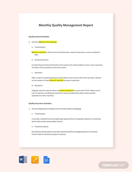 23 management report examples pdf word pages
