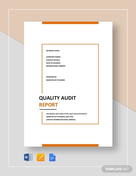 12+ Quality Report Examples - Word, PDF, Pages | Examples