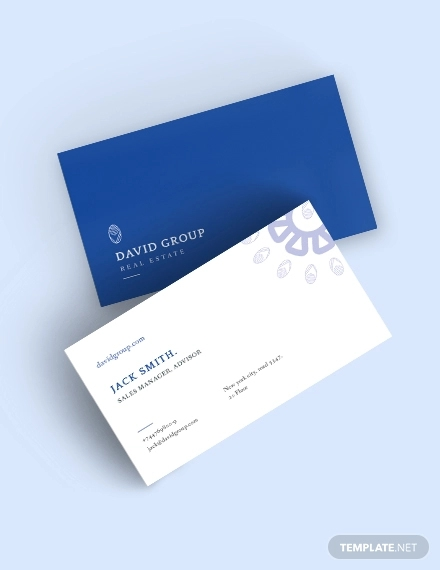 real estate business card