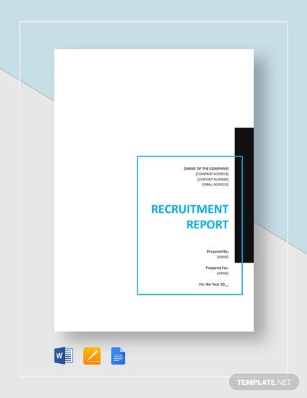 recruitment report template