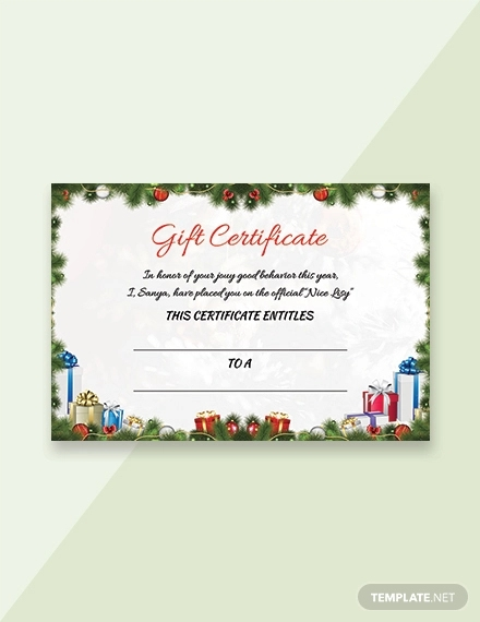 17 Gift Certificate Examples Samples Examples
