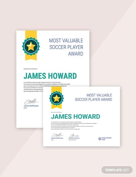 sports award certificate1