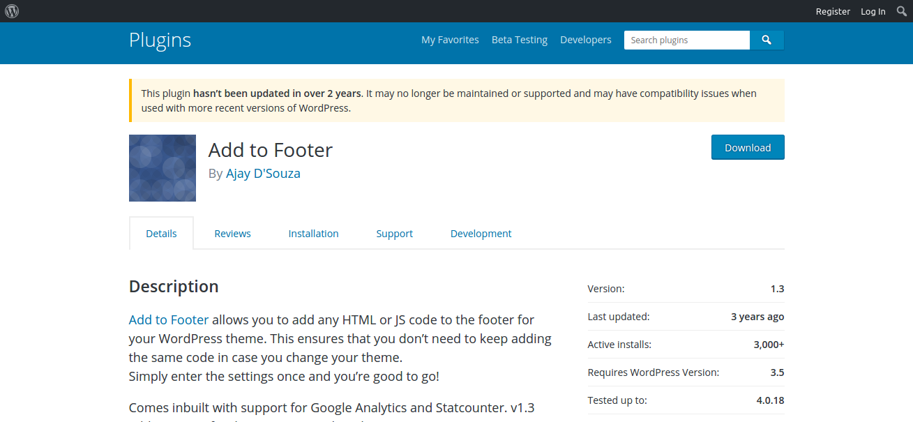 addtofooter