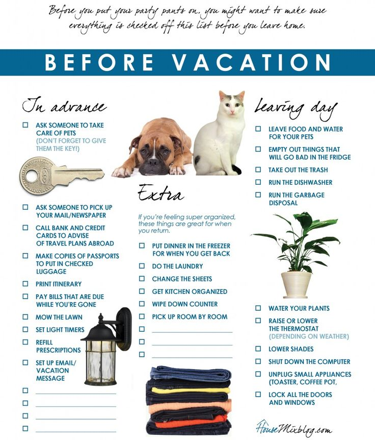 vacation checklist