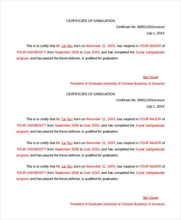 formal graduation certificate1