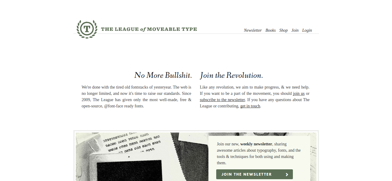 the league of movable type