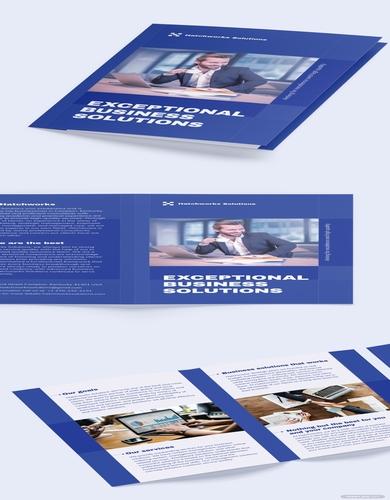 company bi fold brochure