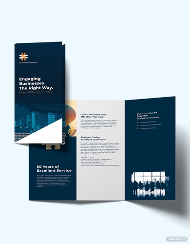 company profile tri fold brochure