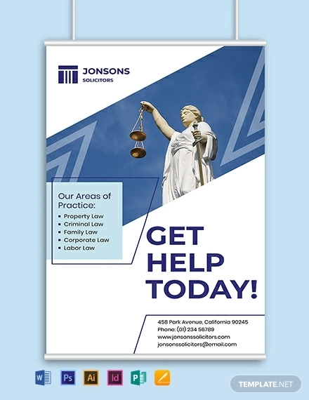 law firm a3 poster template