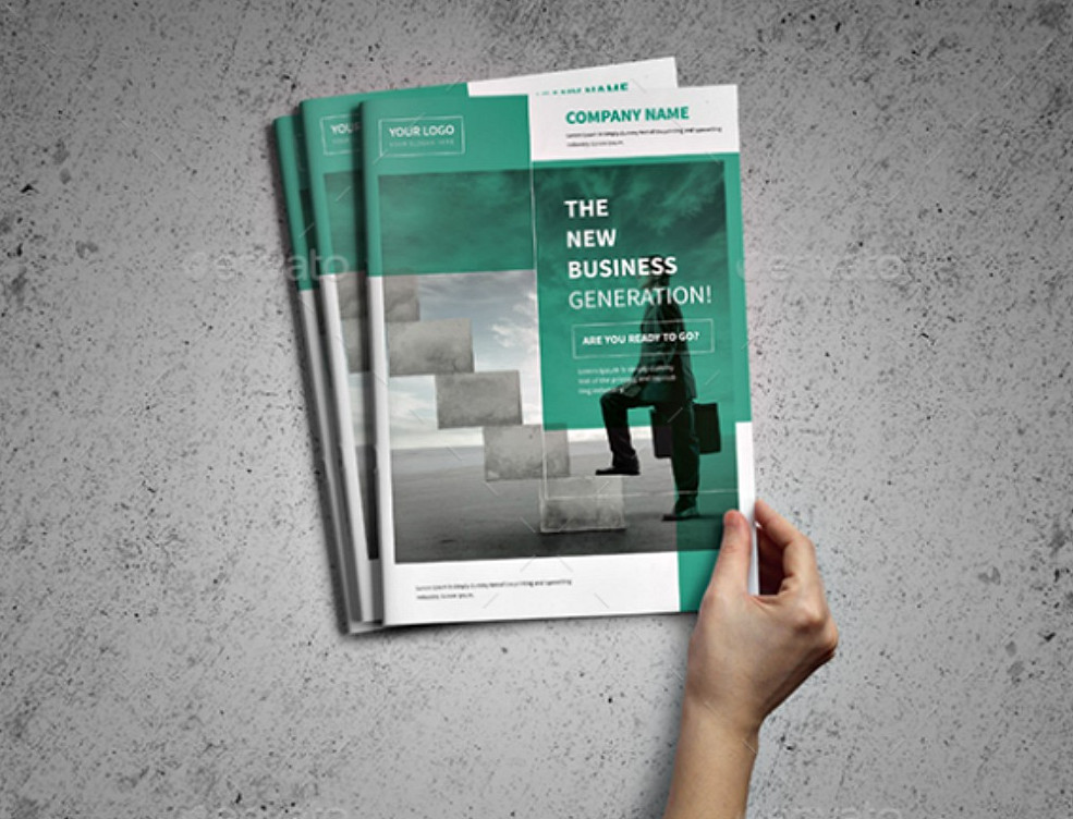 A4 Corporate Business Brochure PSD