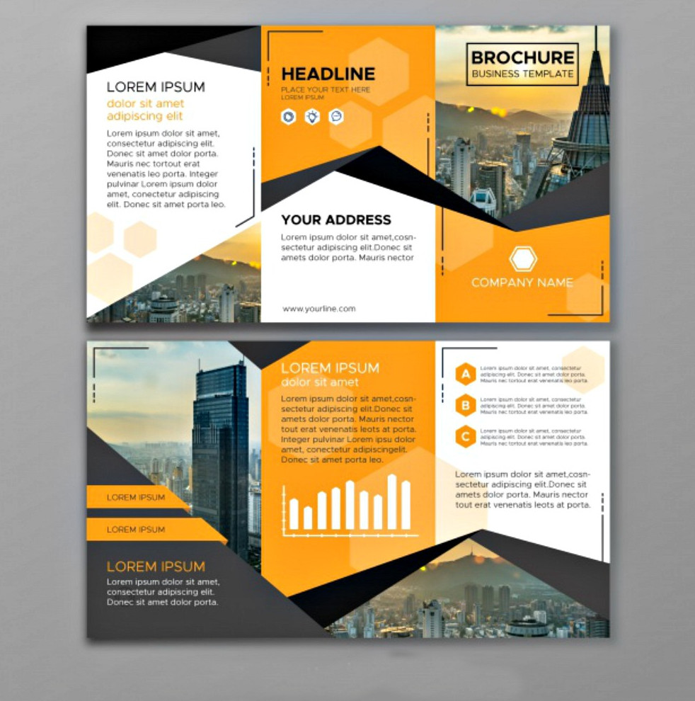Abstract Business Tri-fold