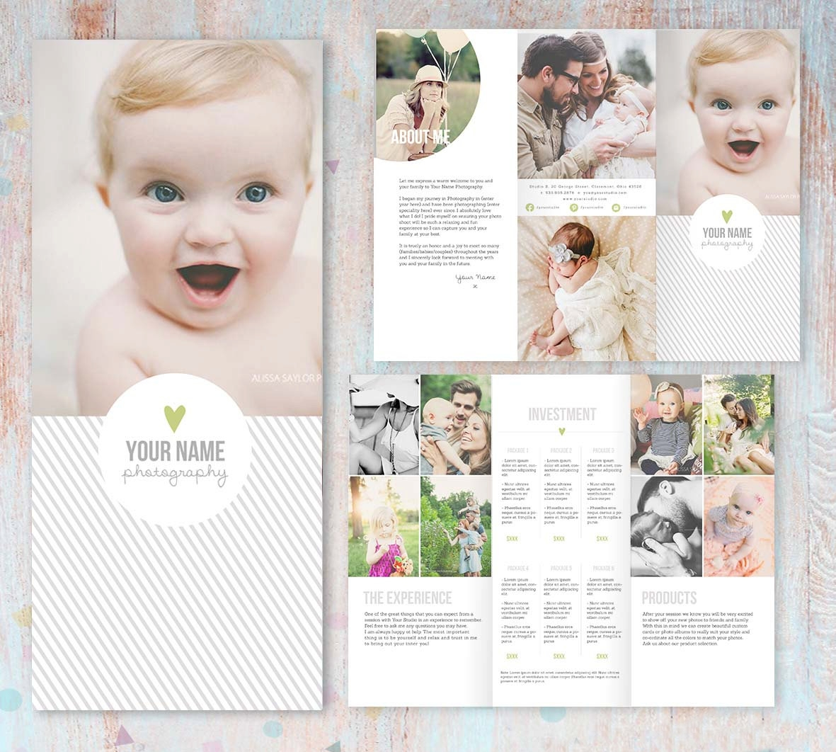 baby photography brochure