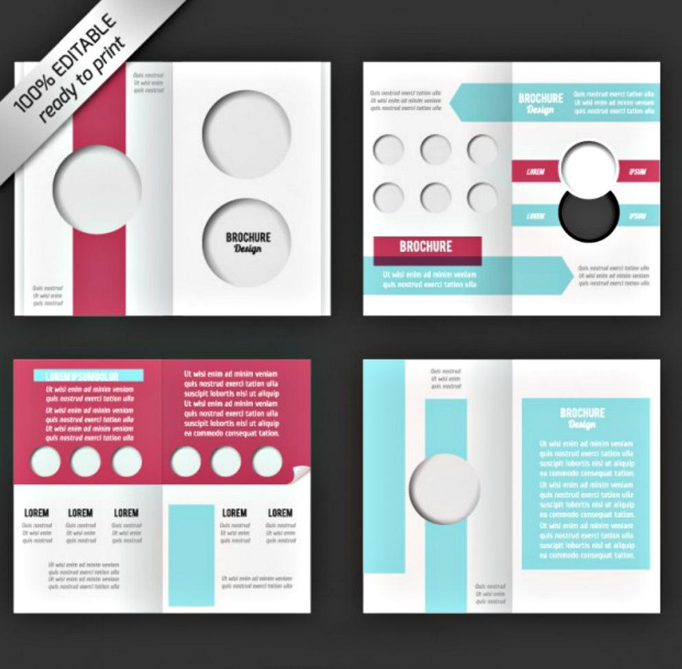 bi fold editable brochure