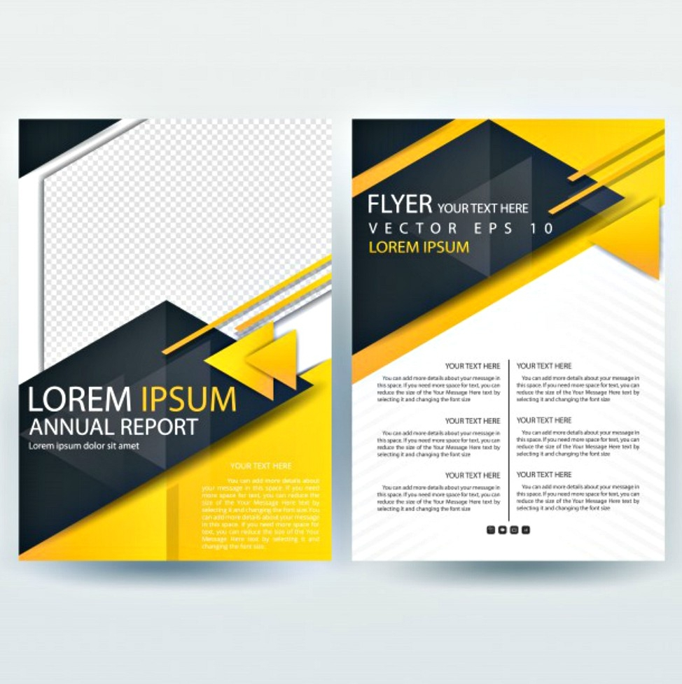 black and yellow modern brochure