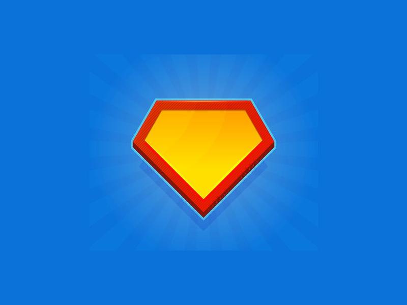blank superhero logo