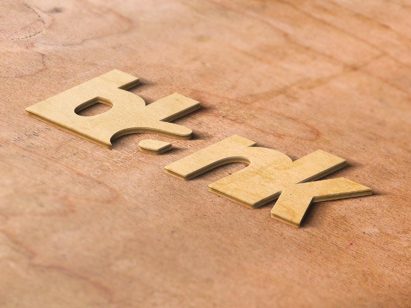 blank typography logo