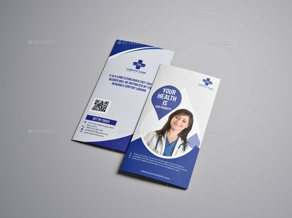 blue medical brochure