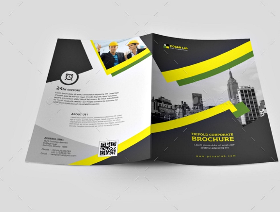 business bi fold brochure template