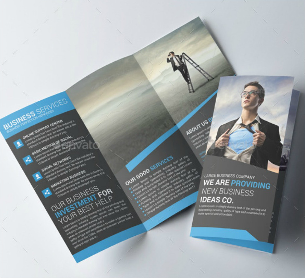 20 brochure examples in psd for Tri fold business brochure template