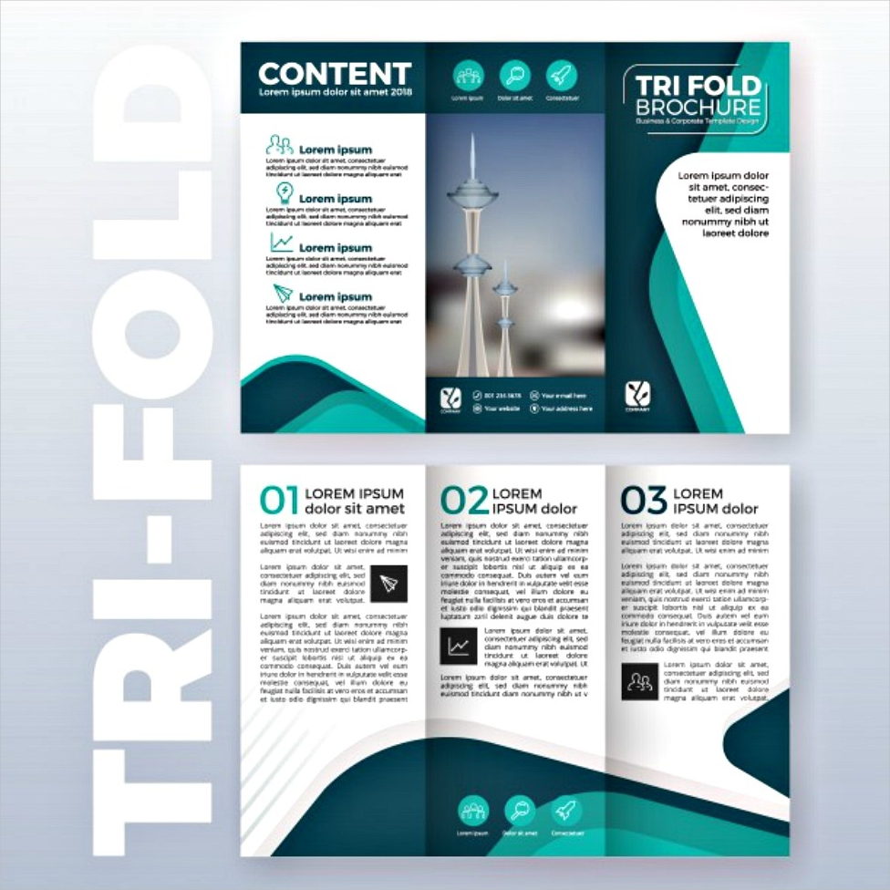 business tri fold brochure template design 1