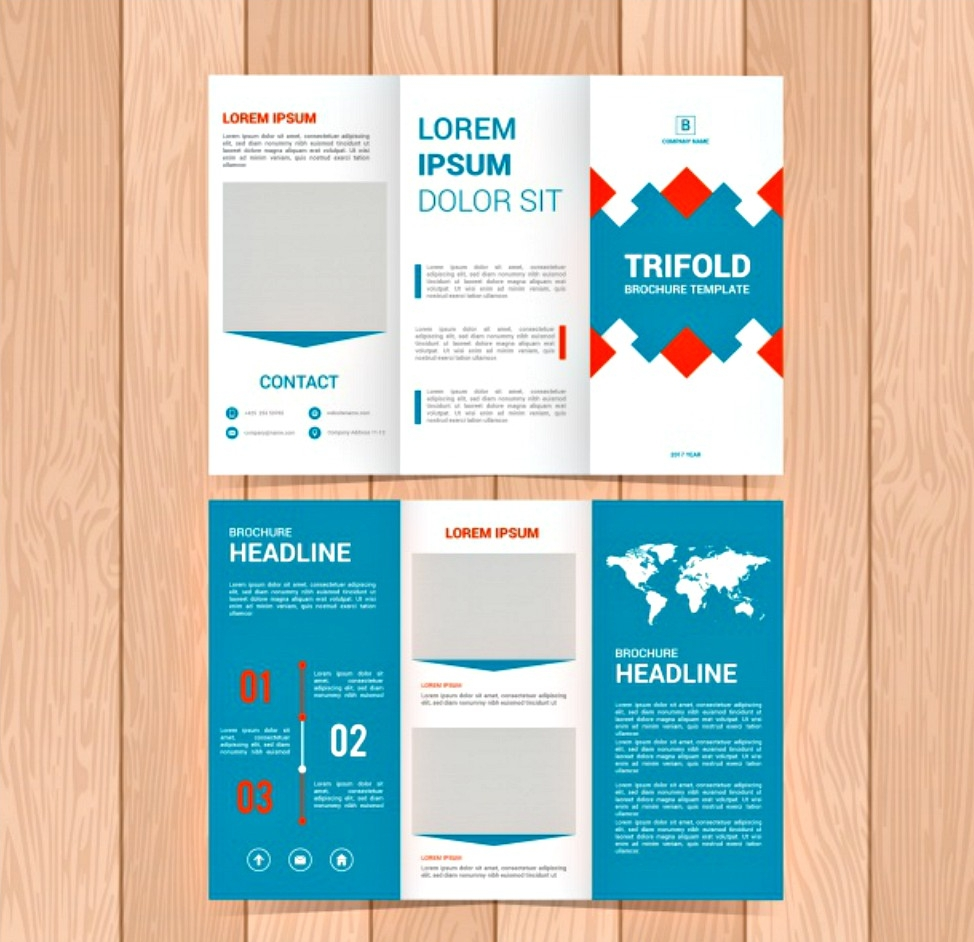 business triptych trifold brochure
