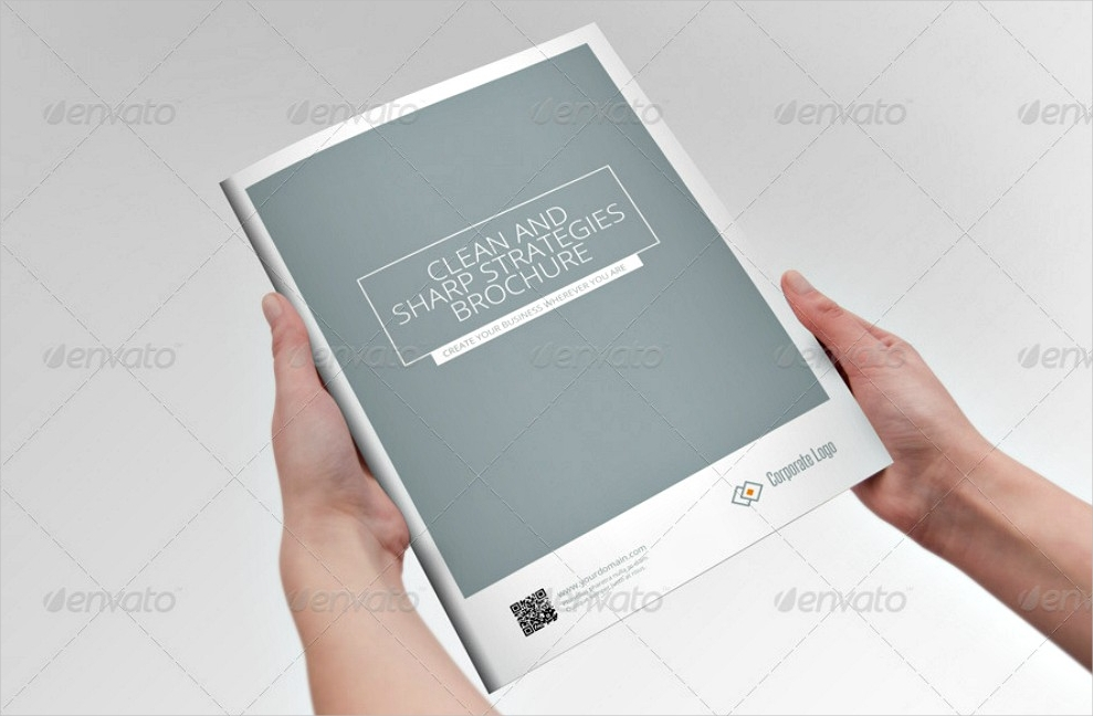 clean and sharp indesign brochure template