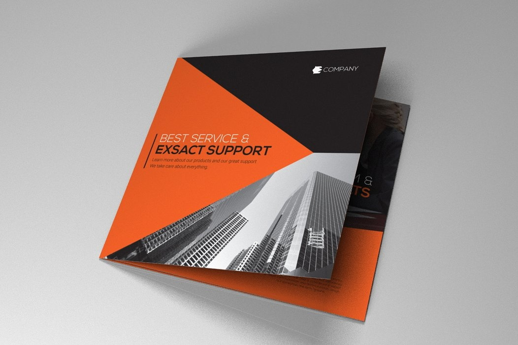 company product indesign brochure