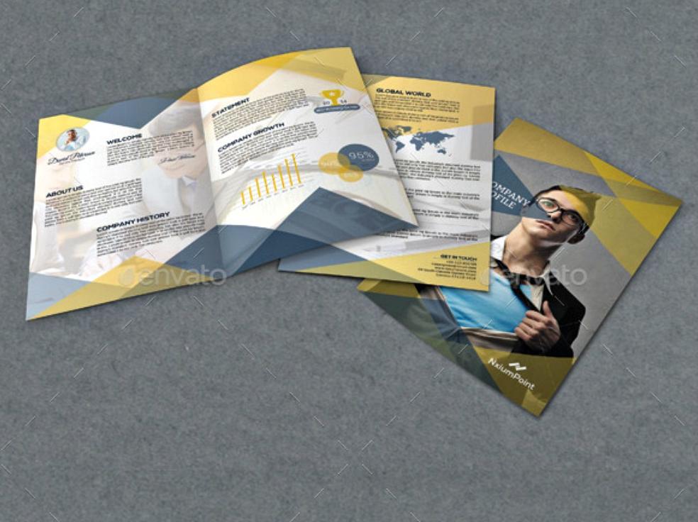 company profile bi fold brochure