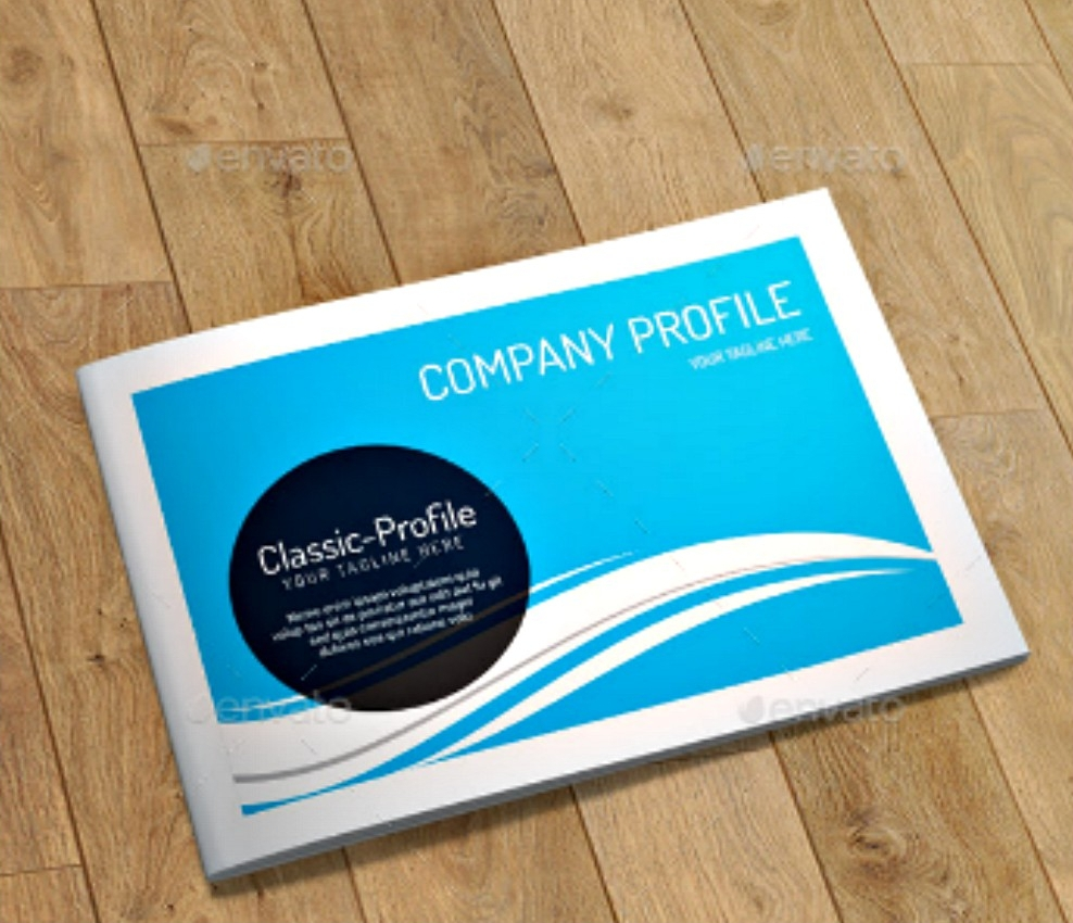company profile indesign brochure