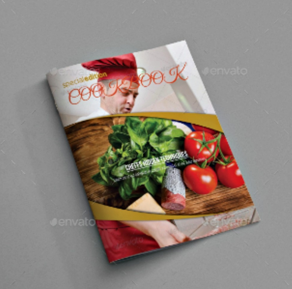 cookbook food brochure template