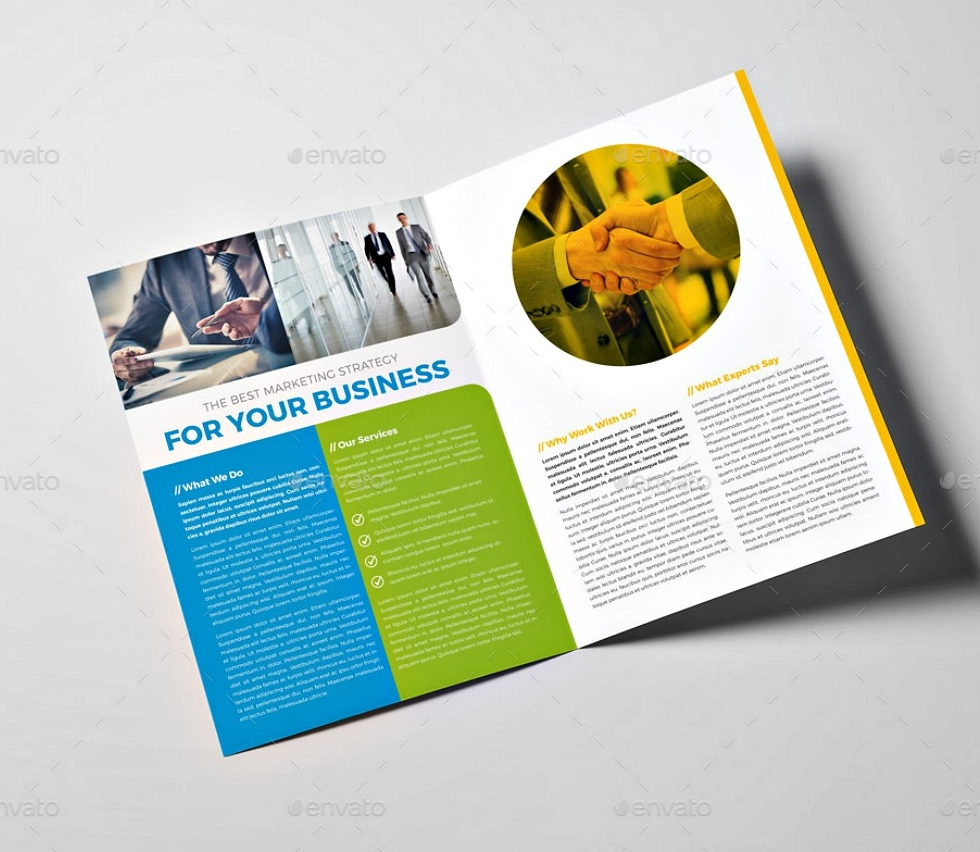 creative business bi fold brochure