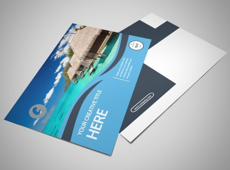 cruise ship travel postcard template