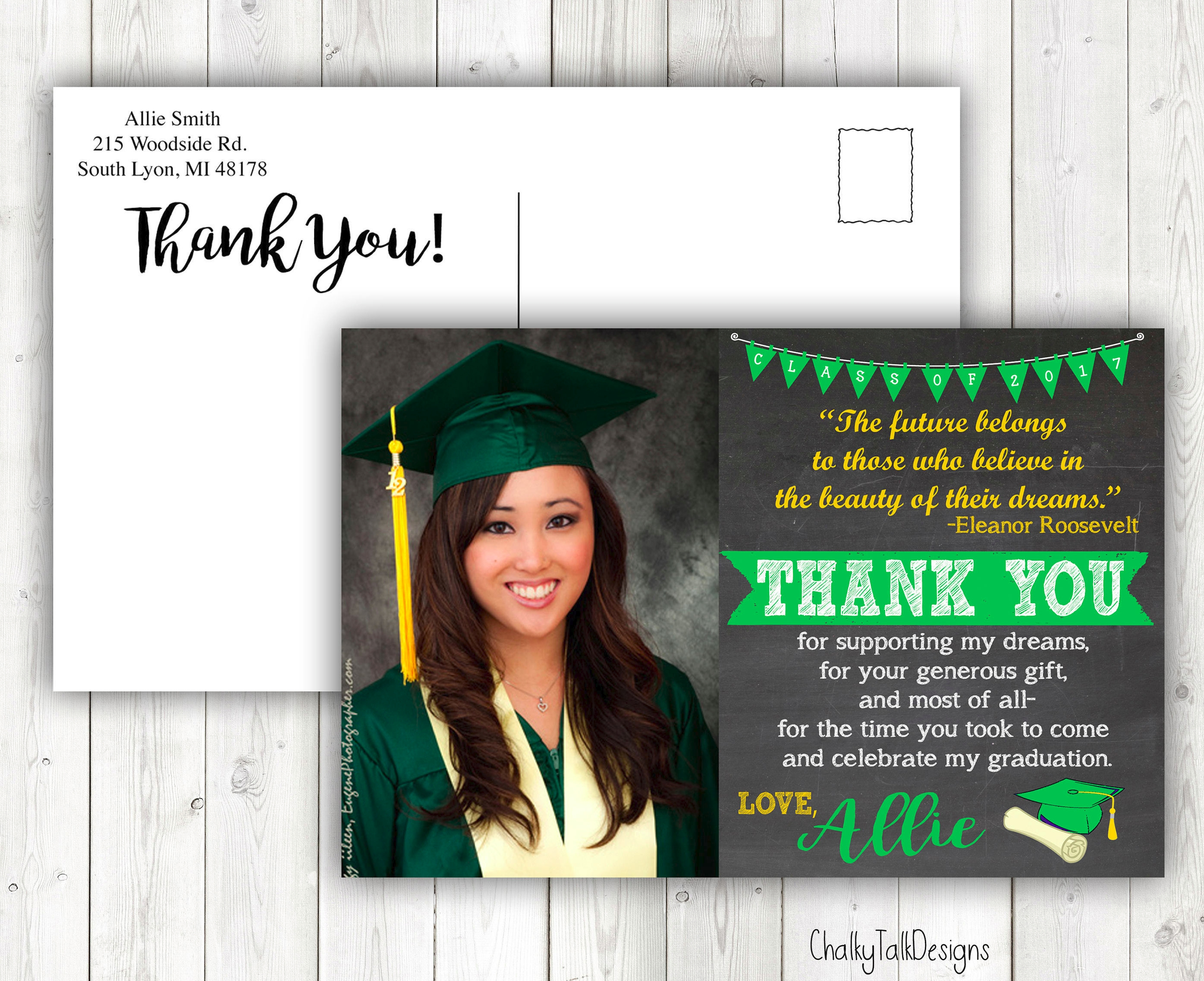 10  graduation thank-you card examples