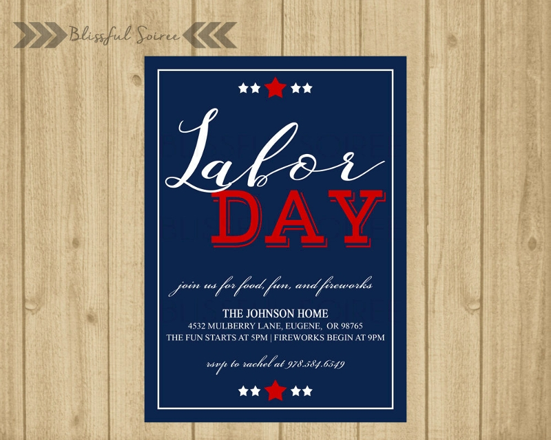 customize labor day invitation