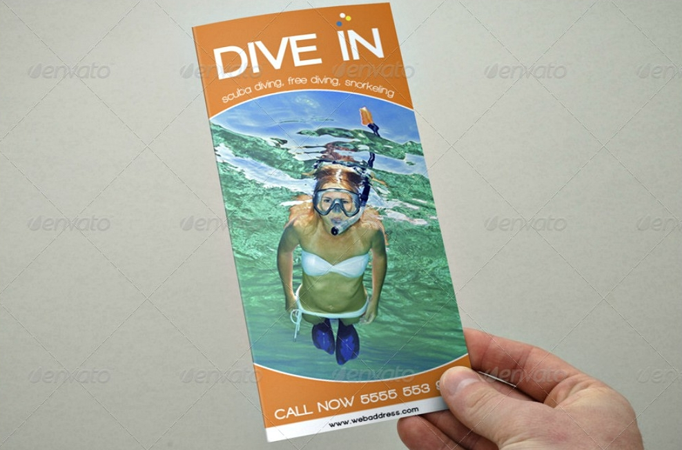diving tri fold brochure