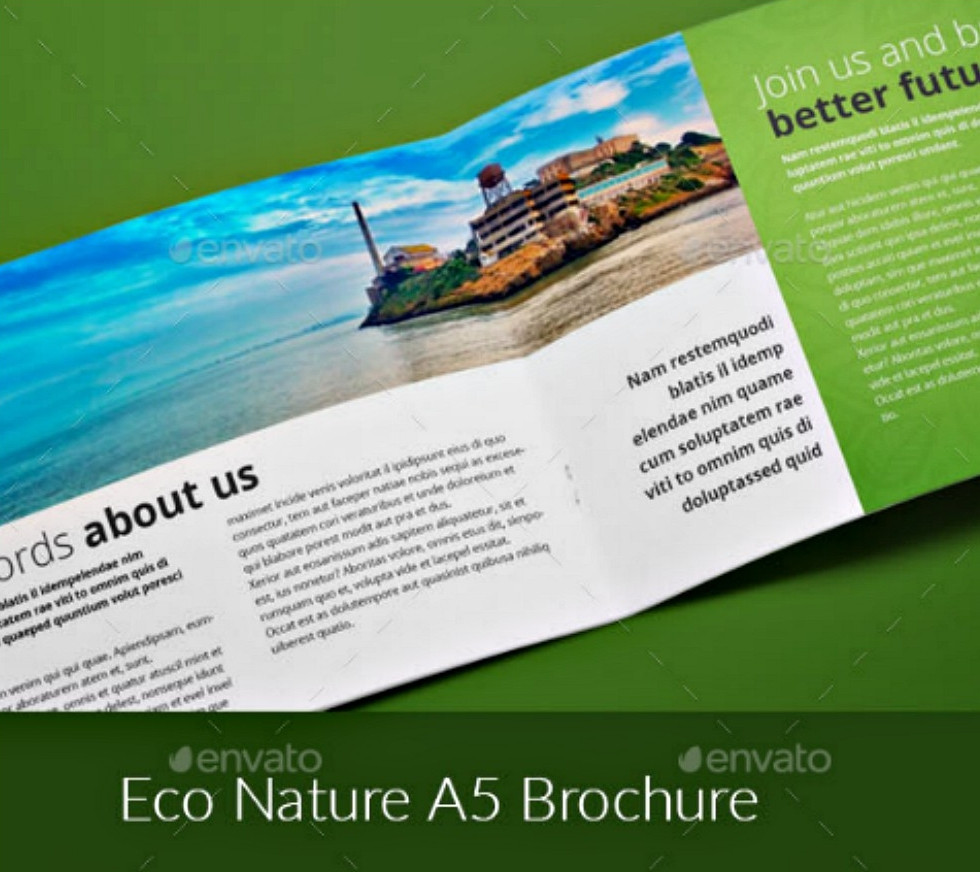 eco nature a5 indesign brochure