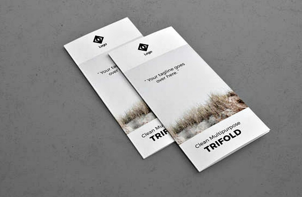 editable trifold indesign brochure