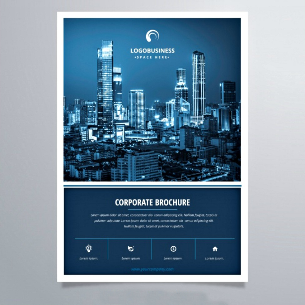 elegant corporate brochure