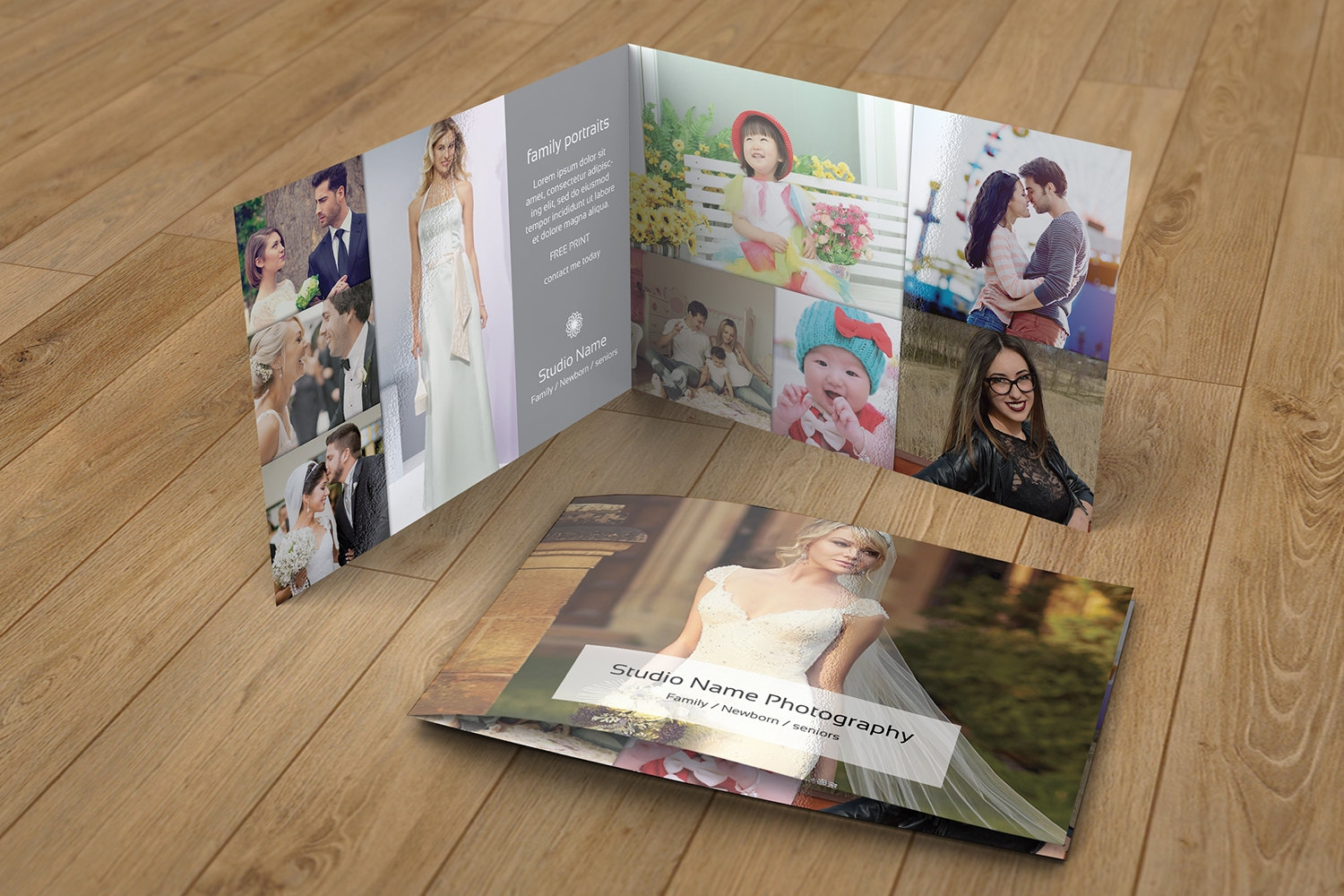 family photography brochure