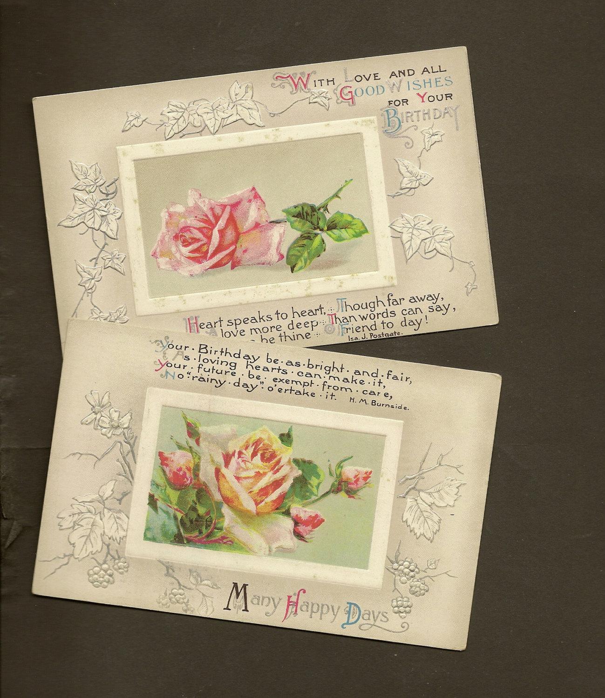 Floral Birthday Postcard