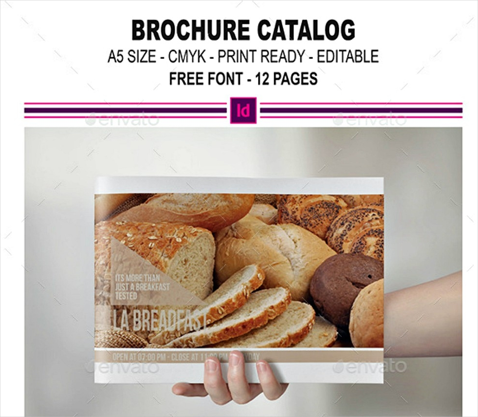 food indesign brochure catalog
